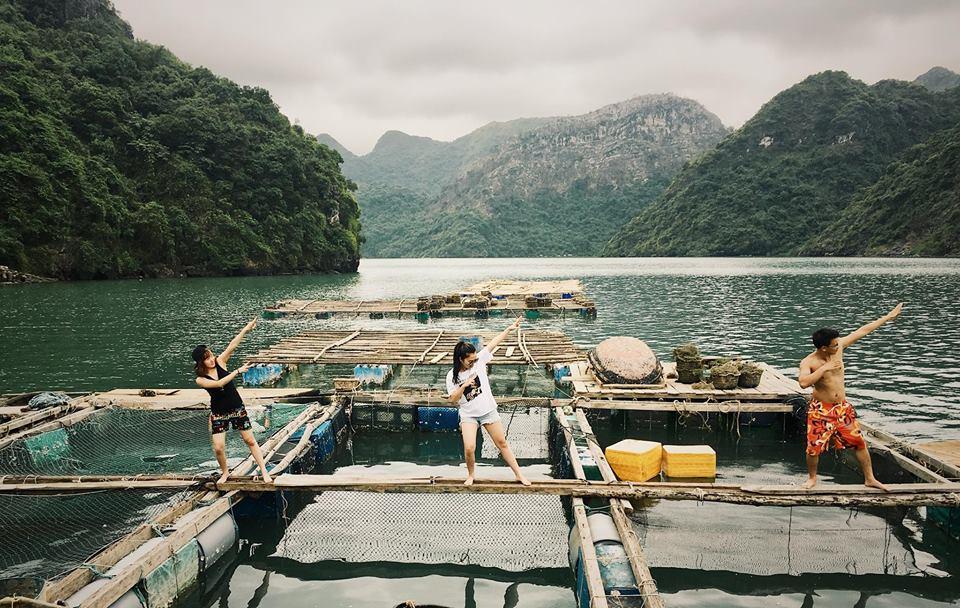 Fishing Village at Tra Bau Area Vietnam