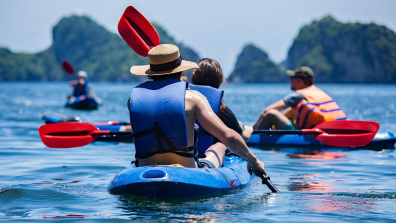Places for Kayaking in Lan Ha Bay Vietnam