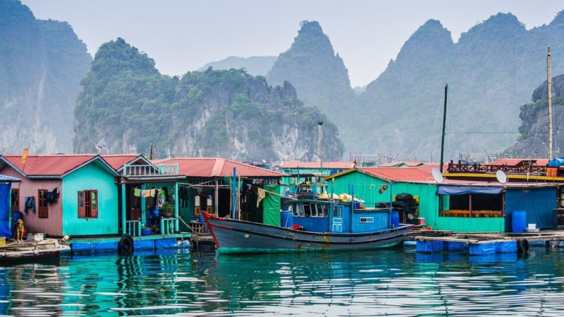 Cua Van Floating Village in Halong Bay