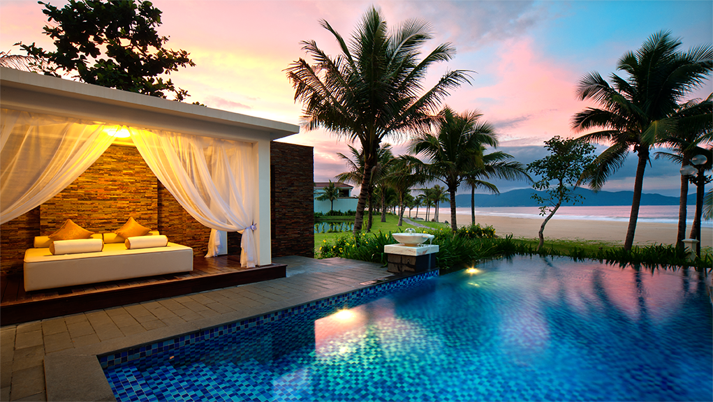 Sunset at a resort in Phu Quoc Island